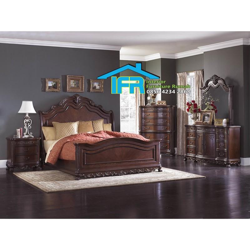model set kamar tidur ukiran