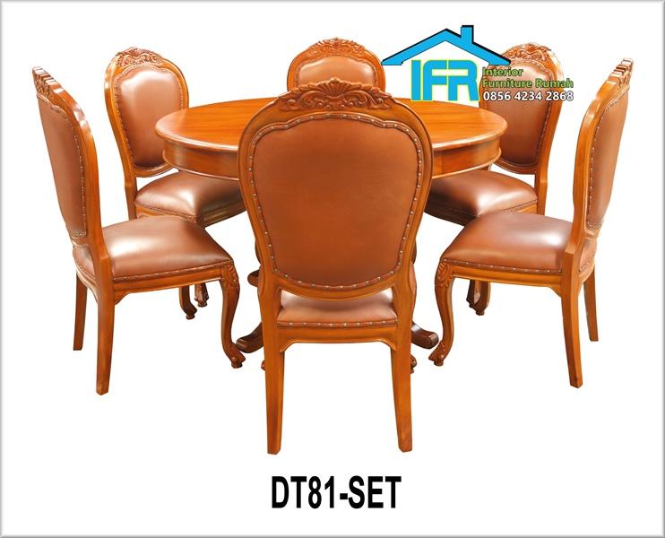Set kursi makan ukiran jati
