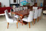 Desain set kursi makan mewah terbaru