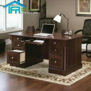 set meja kantor minimalis jati jepara