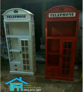 lemari pajangan telephone Jepara