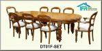 set kursi makan meja bundar jepara
