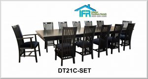 set kursi makan modern 12 kursi