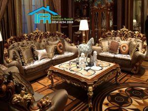 set kursi sofa tamu mewah klasik baroque