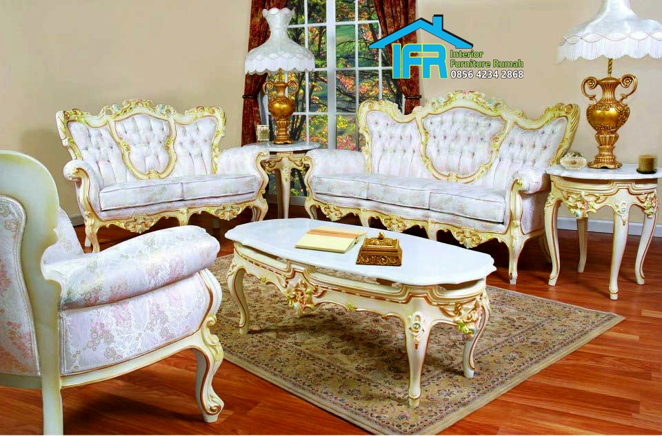 Model set Kursi Tamu Sofa ukiran Klasik