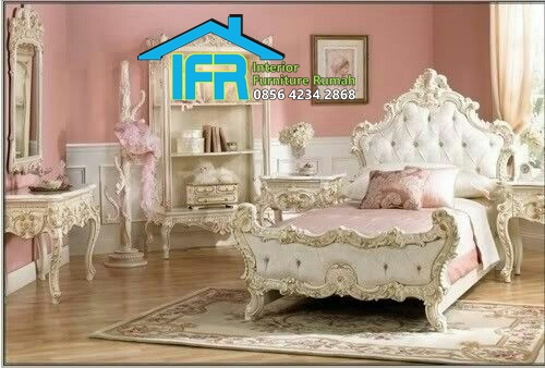 set tempat tidur anak ukiran mewah