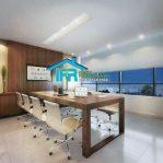 Set Meja rapat pimpinan kantor perusahaan