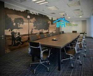 set meja rapat kantor minimalis mewah