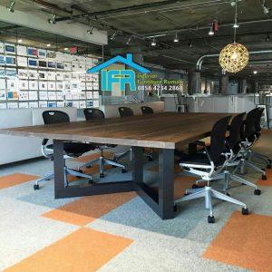 set meja rapat kantor dewan direksi