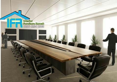 set meja meeting kantor dewan direksi