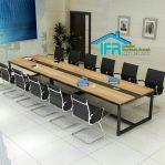 set meja meeting kantor modern mewah
