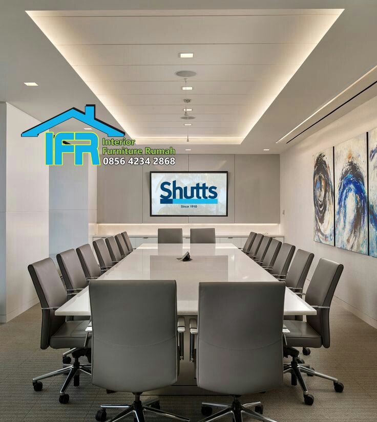 set meja kantor pertemuan rapat perusahaan