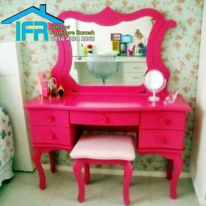 model set meja rias ukir jepara