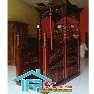 Mimbar Masjid Minimalis Jati