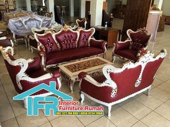 Set kursi sofa tamu jati ukir Jepara