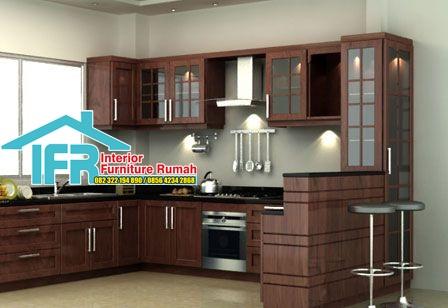 kitchen set coklat tua