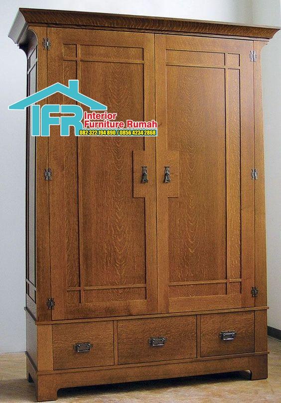 lemari pakaian kayu minimalis