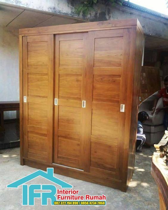 lemari pakaian slading 3 pintu