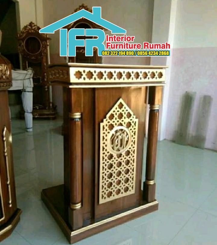 Mimbar Masjid Minimalis Klasik