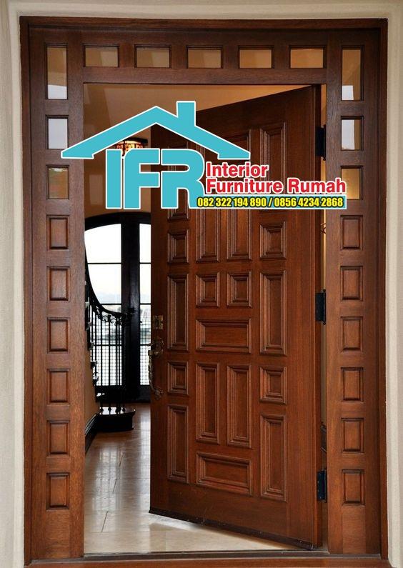 pintu rumah dari kayu