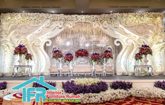 dekorasi pernikahan modrn