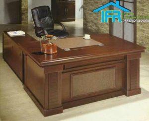 set meja kantor pimpinan mewah