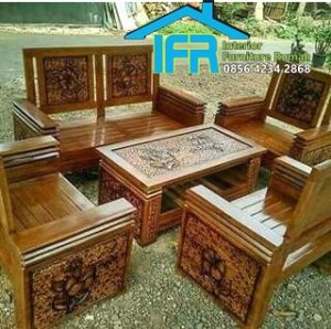 set kursi tamu kayu minimalis