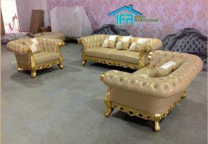 Set kursi sofa tamu mewah model terbaru