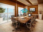 set meja meeting kantor minimalis mewah