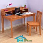 set meja belajar anak finishing natural mewah