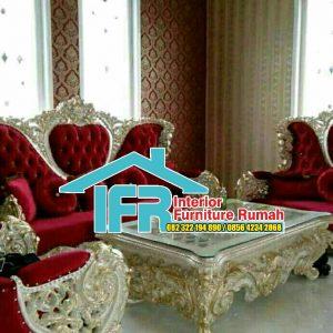 Desain Set Kursi Tamu Sofa Mewah Ukir