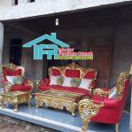 Set kursi Sofa Bellagio Ukiran Emas